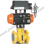 PFA/FEP LINED BALL VALVE WITH ROTARY ACTUATOR