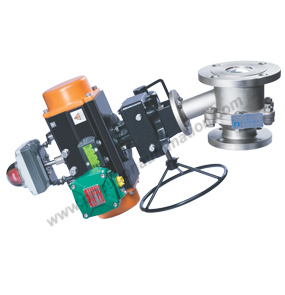 Flush Bottom Ball Valves With Rotary Actuator
